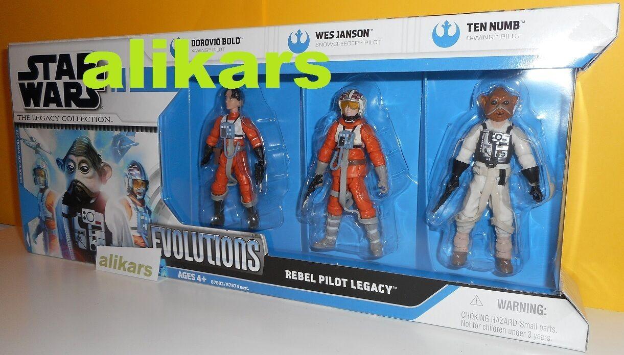 Evolutions REBEL PILOT LEGACY DGoldvio Bold Wes Janson Ten Numb X-Wing Star Wars