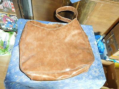 Damen Handtasche braun, lack