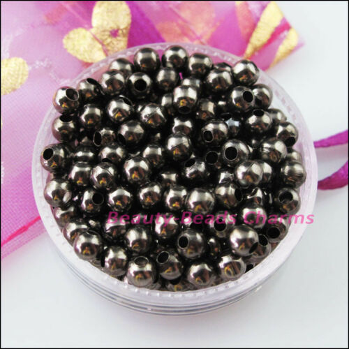 2.4mm 3.2mm 4mm 5mm 6mm Metal Round Loose Ball Spacer Beads Charms
