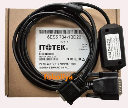 For 1PC Programming Cable PC-TTY PCTTY Siemens S5 PLC 6ES5734-1BD20 6ES5 734 #F6