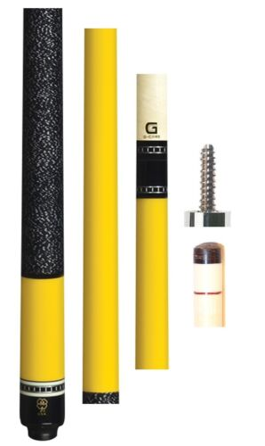 FREE 1x1 Hard Case /& US SHIP McDermott G238 Cue 12.75mm G-Core Yellow