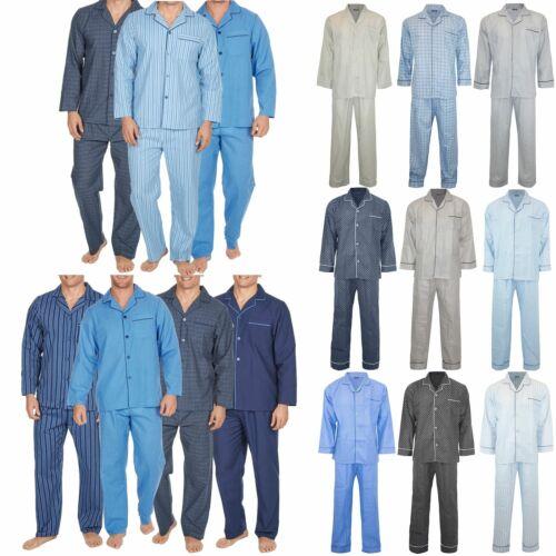 Mens Stripes Traditional Dots Front Collar Sleeping Suit Pyjamas Pj Co-ord Set