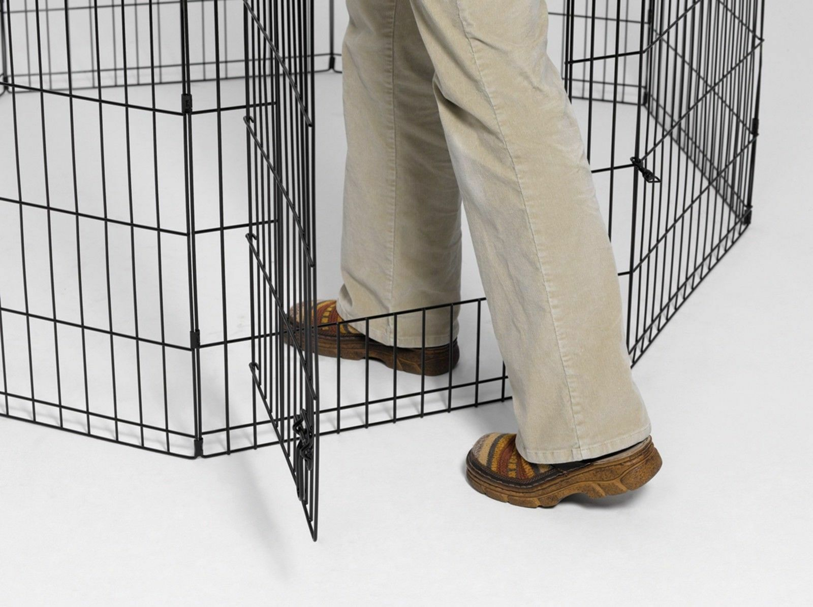 48  Dog Exercise Play Play Play Pen Folding Indoor Outdoor Cage Fence Pet Large Kennel b37e17