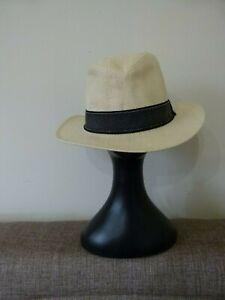 Hats In The Belfry Men S Trilby Fedora Hat Braid Ribbon Trim Ivory