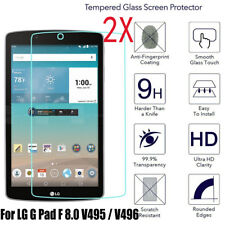 HD Clear Premium Tempered Glass Screen Protector for LG G Pad F 8.0 UK495 Tablet