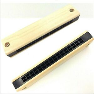 Children-Wooden-Harmonica-Musical-Instrument-Educational-Music-Toy-Kids-Gift-FT