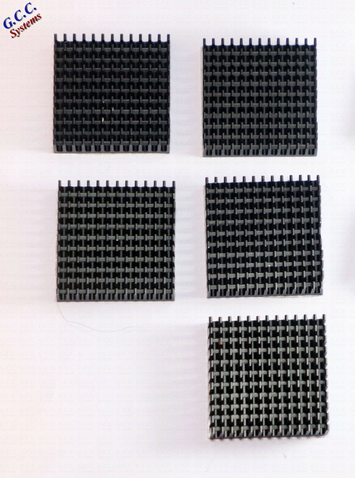 5x 3D Printer NEMA17 42 Stepper Motor Heatsinks With Adhesive Backing