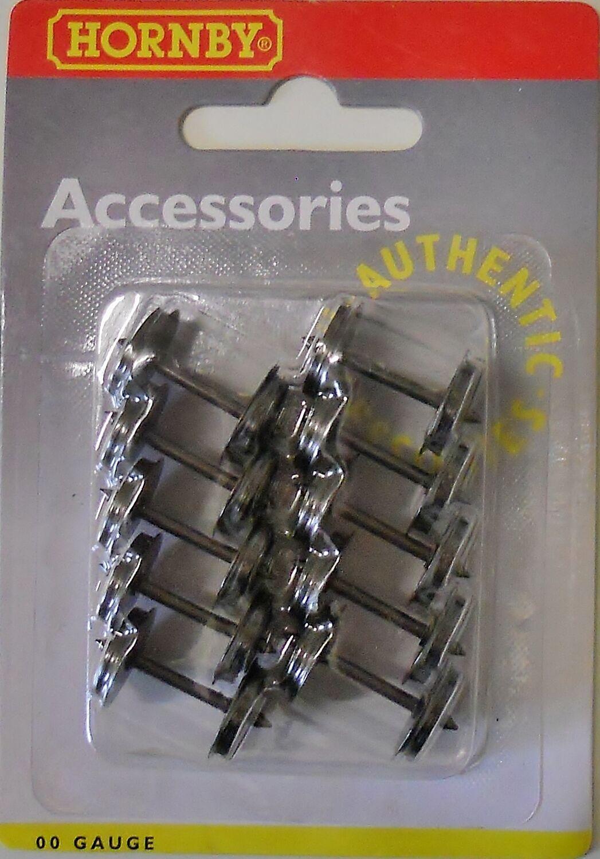 OO Gauge pk10 Hornby R8096 Disc Wheels 12.6mm