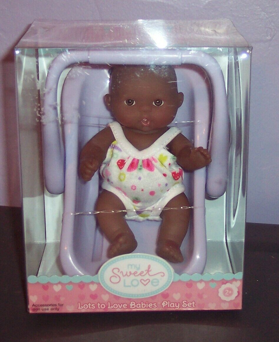 "NEW Berenguer Doll Lots To Love Babies 5/"" Mini Nursery PlaySet IN Carrier HTF"