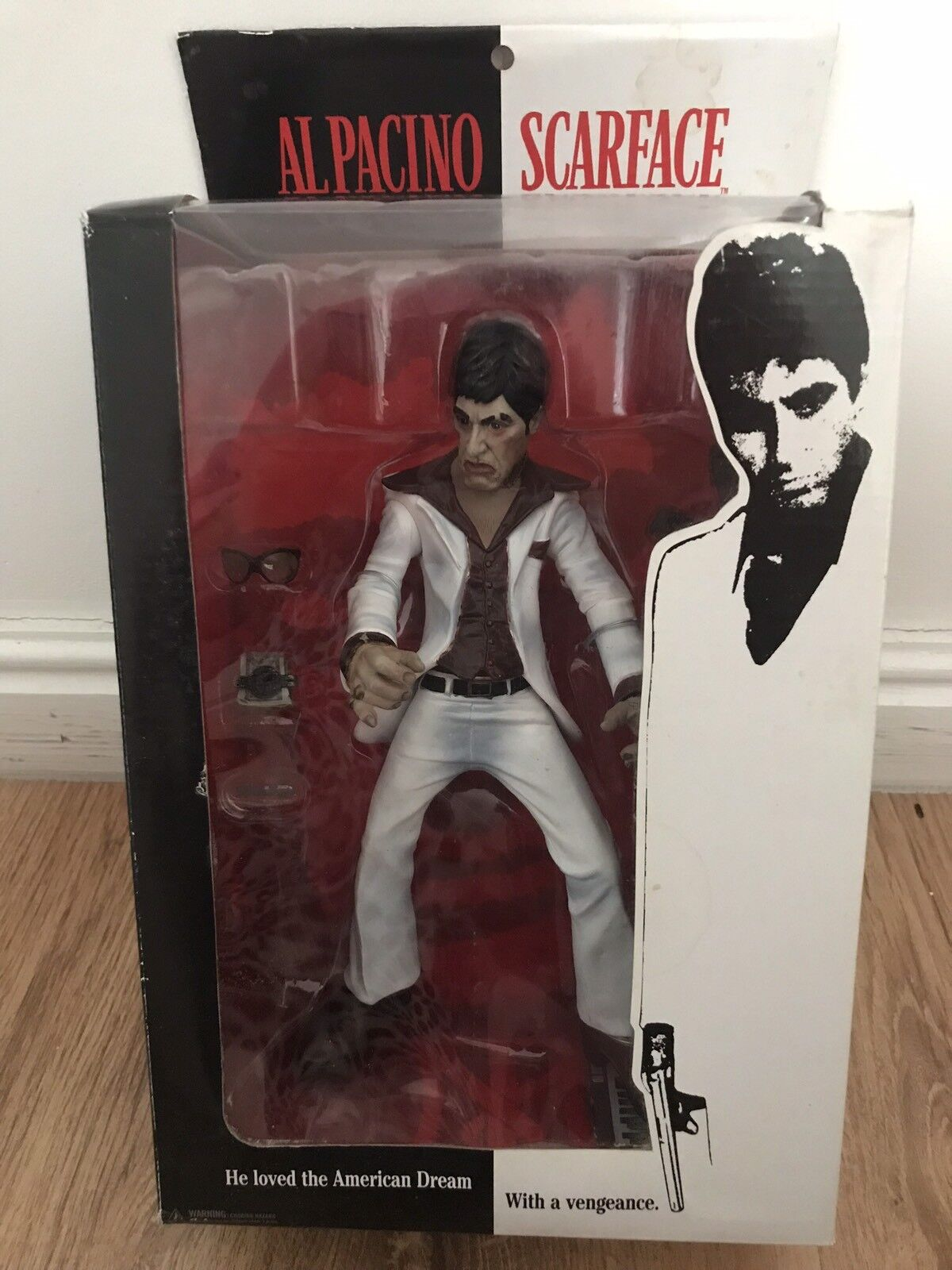 ScarFace Figure The Player. Mezco. Al Pacino. Weiß Suit Version
