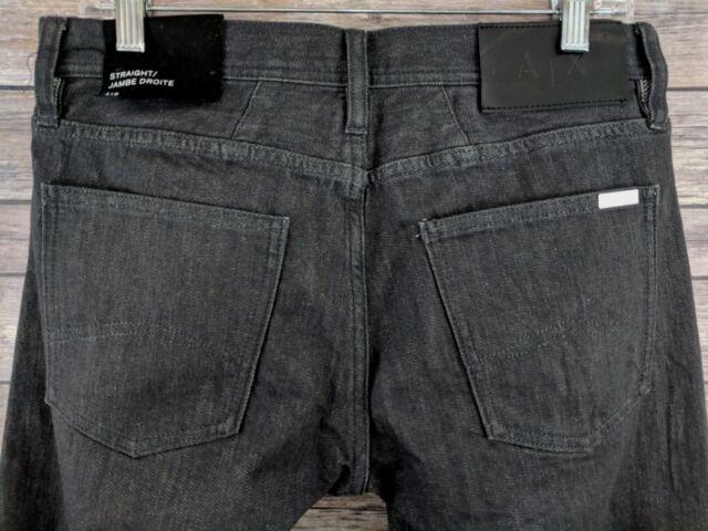 27d403f9f4f4 New AX Armani Exchange Mens Jeans Straight Leg Jambe Droite Denim Size 31 x  32