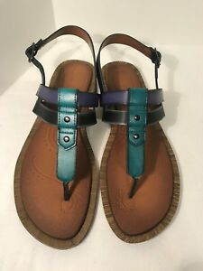 06cafbd47 Image is loading Clarks-Billie-Swing-Thong-Slingback-Sandals-purple- turquoise-