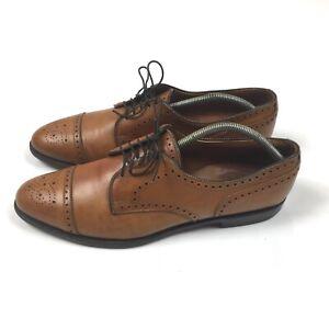 allen edmonds sanford mens derby oxfords shoes brown