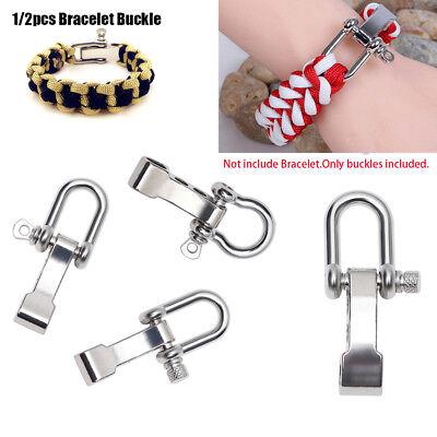 10x Stainless Steel U Shaped Adjustable Shackles Buckle for Paracord Bracelet