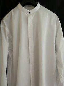 Camisa-sin-cuello-vestido-uniformal-Vintage-Sin-Uso