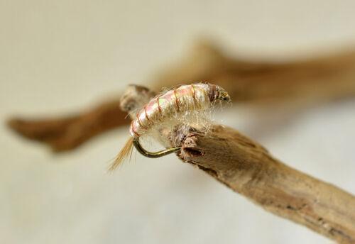 1 Doz Scuds Nymph Flies Mustad Signature Hooks Tan