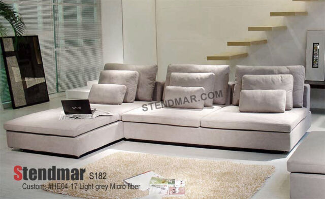 Modern DESIGNER Micro Fabric Sectional Sofa S182