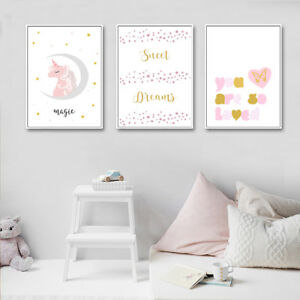 Canvas Poster Quotes Nursery Art Print