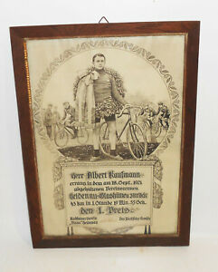 Certificate-1-Price-Cyclists-Association-Diana-Heidenau-1921-Glashutte-Race