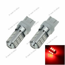 2X Red 7443 7440 27 SMD 5630 LED Brake Turn Signal Rear Light Bulb Lamp 12v G026