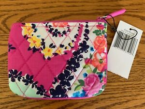 Floral Coin Purse Pink Tapestry Card Coin Wallet