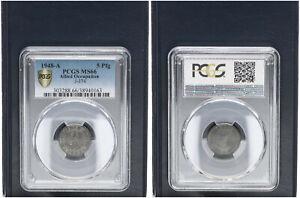 Allied Occupation 5 Pfennig 1948 A Brilliant Uncirculated PCGS MS66 (45993)
