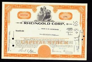Beer-Brewery-RHEINGOLD-CORP-Brooklyn-NY-dd-1965-iss-to-Bache-amp-Co