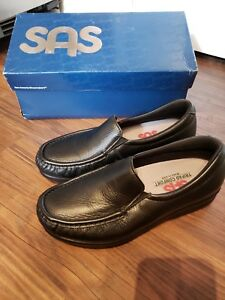 Flats 8n Loafer Usa Black Comfort Shoes Tripad Womens Sz Moccasin Twin Sas cwqCvF8R