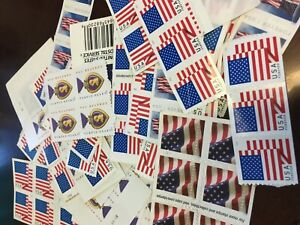 200 Forever Postage Stamps Retail $110 Mixed styles Flags & More