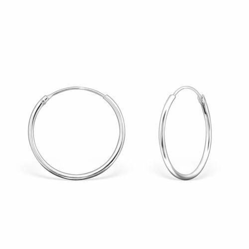 PAIR 925 Sterling Silver 20mm Hoop Earrings Hoops Sleepers Gift Bag