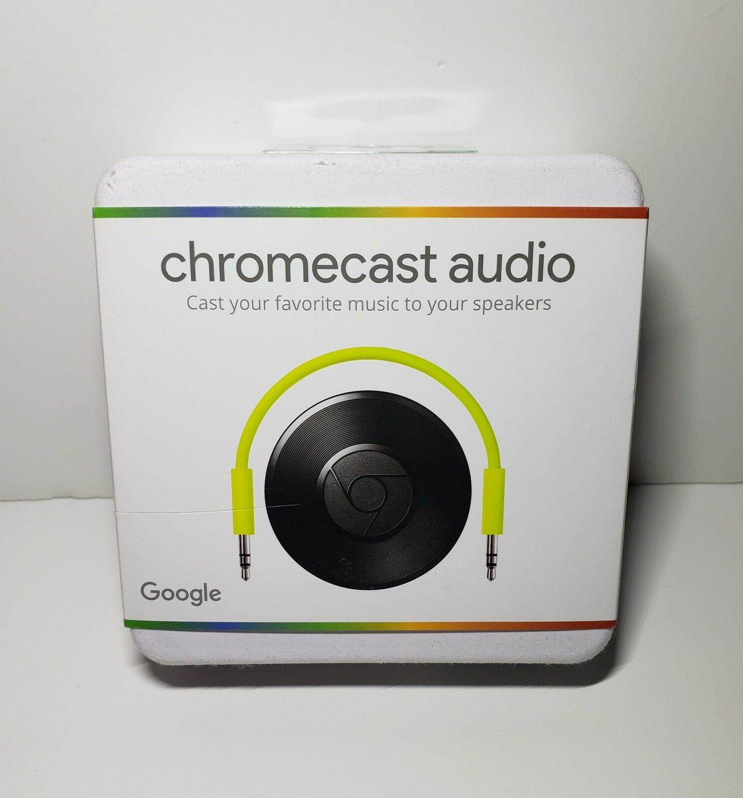 Chromecast Audio, Wifi media player - New -(Box has little scratch see pictures) chromecast has little media new player scratch see wifi