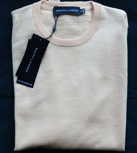 Ralph-Lauren-Black-Label-034-PEACH-034-Pullover-WOLL-CASHMERE-MADE-IN-ITALY-Gr-S