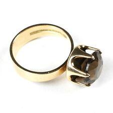 ELIS KAUPPI: GOLD 60s-Ring + Rauchquarz KUPITTAAN KULTA, FINNLAND / Finland