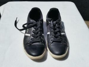 EUROPA L MF Black Sneaker White Stripe