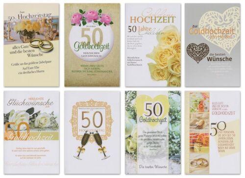 Hochzeitskarten Hochzeit Goldhochzeit Goldfolie Grußkarten Karten 720-4584