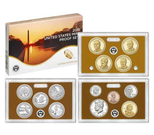 coins with Native American /& Quarters 2015 S U.S 14 Mint Clad Proof set