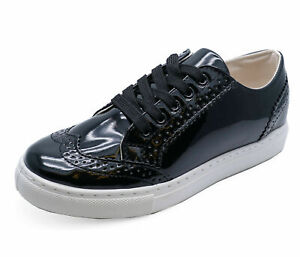 LADIES BLACK FLATS LOAFERS TRAINERS