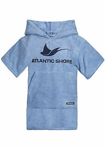 Atlantic-Shore-Surf-Poncho-Bademantel-Umziehhilfe-fuer-Kids-Light-Blue