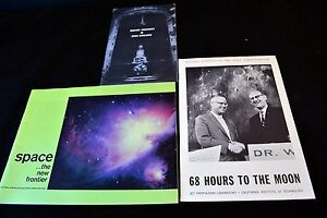 Vintage-Lot-of-Early-60-s-NASA-Brochure-Pamphlet-Booklet-Advertisements