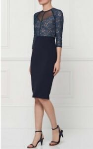 0542477131e1 Image is loading Bnwt-Next-Size-10-Navy-Blue-Lace-Bodycon-