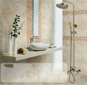 Details About Wall Mount 8 Antique Bronze Shower Faucet Bathroom Rain Head Hand Mixer Tap Set