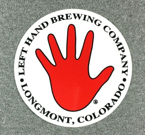 LEFT HAND BREWING COMPANY Logo Sticker Decal 3.75in Brewery si