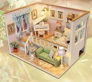 Image Is Loading Doll House Miniature DIY Piano Split Level Bedroom