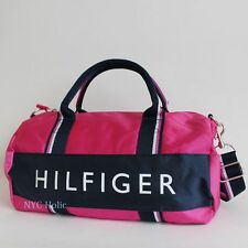 NEW Tommy Hilfiger Duffle Bag Harbor Point Gym White Red Navy Khaki NWT