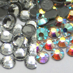 USA Clear 1440 pcs High Quality Flat Back Glass Rhinestones Size SS20