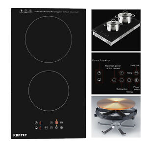 Image Is Loading Built In 2 Burner Electric Cooktop Induction Cooker