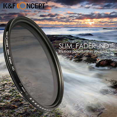 Slim Adjustable Fader Variable ND2 ND400 Filter Neutral Density For Canon Nikon