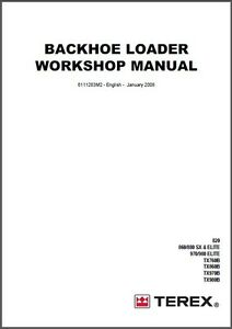 terex backhoe loader 820 860 880 970 980 tx760b tx860b tx970b rh ebay com fermec terex workshop service manual fermec 650b service manual