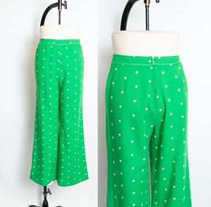 Vintage 1970/'s High Waisted Floral Trousers