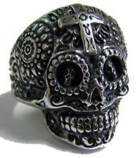 Ring Biker Opie Steel 10685.2 oz Skull cross and Biker/'s
